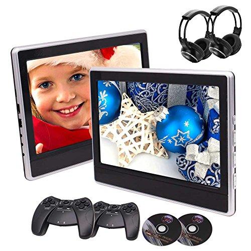 Preisvergleich Produktbild Ankunft 11,6 Zoll Tablet-Stil Dual-Auto-Kopfstütze DVD-Spieler 2 St. Fond-Entertainment-Systeme Unterstützung USB/SD/HDMI/IR/FM Transmitter Twin Screens in Paket mit kostenlosen Wireles