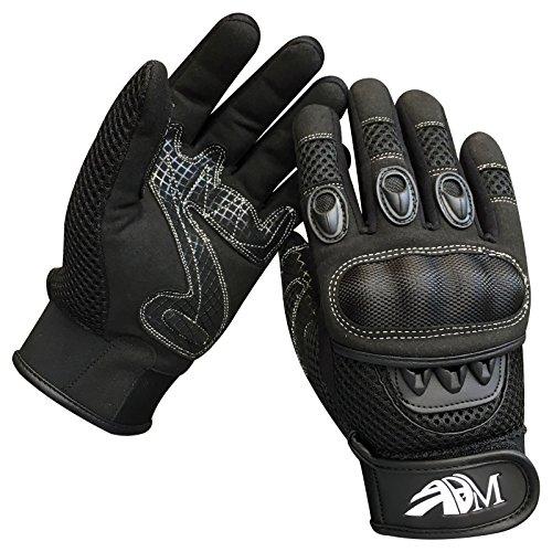 Prime Ganzer Finger Motorrad Sport Reiten Mountainbike Schutz Sommer Handschuhe 9001 - Schwarz, Small - 3