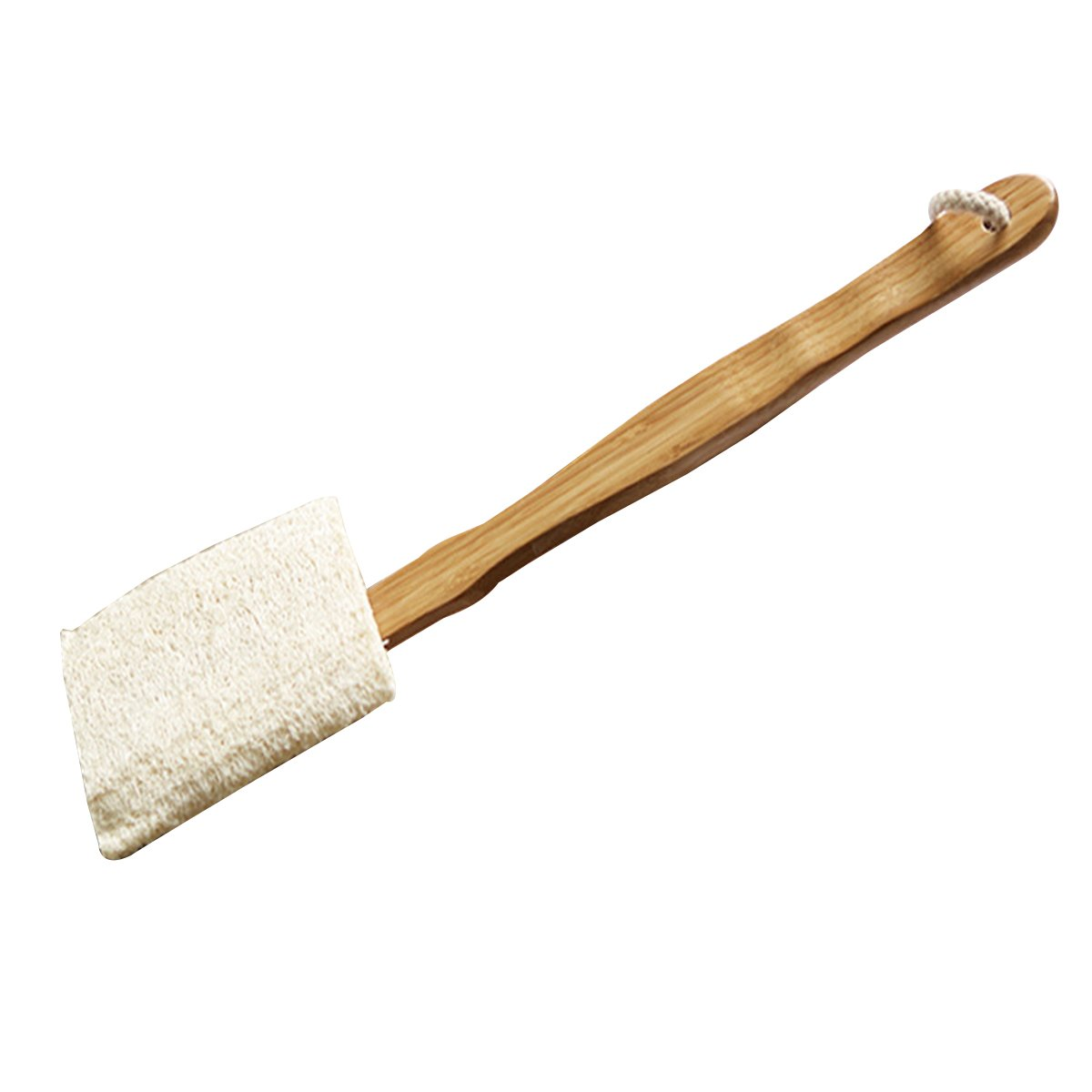 ULTNICE Exfoliating Bath Brush Shower Loofah Brush Bath Body Brush on A Wooden Handle