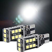 2X T10 W5W LED Bombillas 192 168 15-SMD 5050 para Coches trasera matrícula Luz la Coche de interior exteriores LED Lámpara laterales luces Xenon Blanco 12V
