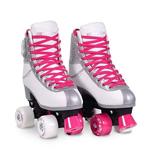 Moni Byox Rollschuhe Amar pink Größe L 36-37, PU-Räder, beleuchtet ABEC-5, bis 60 kg