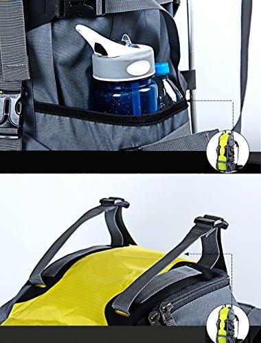zaino trekking 70L spalla arrampicata all'aperto sacchetto impermeabile Zaino di viaggio Zaini da escursionismo ( Colore : C , dimensioni : 70L-27*38*80cm ) A