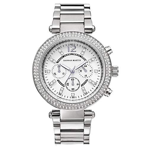Caerling Damenmode Uhren Wasserdicht Klein Ziffernblatt Analog Quarz Edelstahl Keramik Roségold Uhr Damen Armband Strass Luxus Uhren Business Uhren