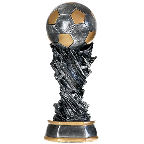 37 cm Fußball Pokal Nantes aus Resin Soccer Fußballpokal Trophäe
