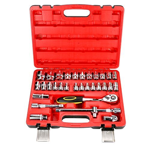 32 PCS Steckschlüssel Set 1/2-Zoll (12,5 mm) Drive Ratchet Griff Auto Reparatur Extension Bar Wrench Tool Kit (Set 32 Extension)