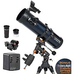 Celestron 31051 AstroMaster 130EQ Télescope réflecteur avec moteur d'entraînement