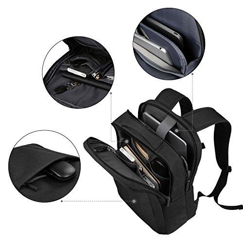 Imagen de reyleo  negocio backpack escuela del trabajo diario estudio para hombre mujer estudiante  14l negro y gris alternativa