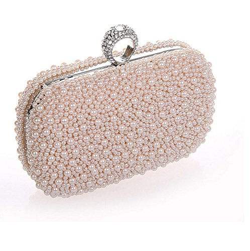Signore High Grade Pearl Casual Poliestere Party Borsa Casuale Pink