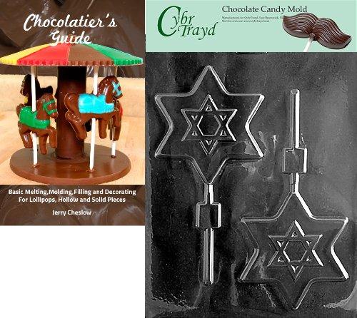 Cybrtrayd groß Star of David Pop Religiöse Form + Chocolatierbuch farblos Star Chocolate Mold