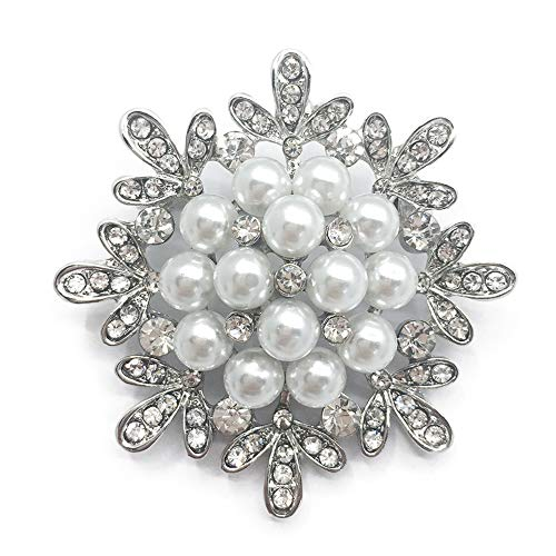SIYWINA Broche Mujer Perla Broches bisuteria Broches