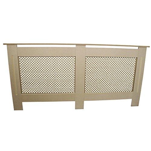 Cache-radiateur en panneau MDF brut naturel avec treillis/grille Moderne 1720mm