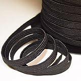 designers-factory Ruban élastique Noir, Largeur 8mm, de Belle qualité (10 mètres)