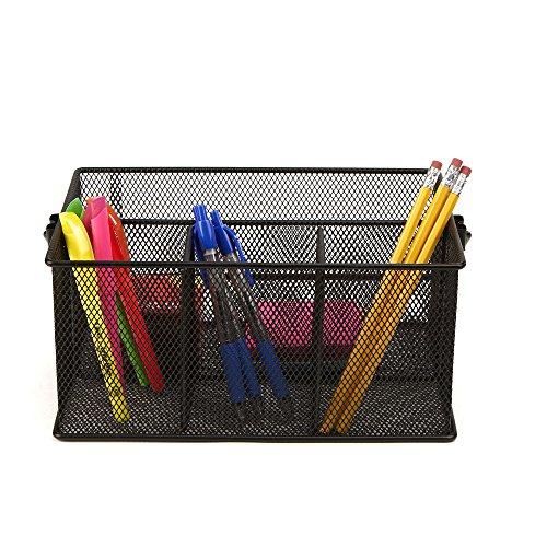 Mind Reader Storage Basket Organizer, Utensil Holder, Forks, Spoons, Knives, Napkins, Perfect for Desk Supplies, Pencil, Pens, Staples