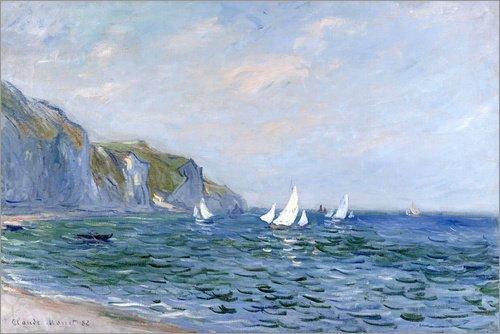 Imagen-Rocks-and-sailing-boats-in-Pourville-Claude-Monet-Bridgeman-Images