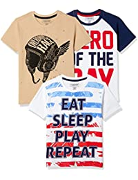 Sunday Sale : Flat 50% And More OFF On Cherokee Boys' Plain Combo T-Shirt (Pack of 3) low price image 8