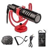 ZHIYUN Smooth 4 - Microfono per videocamere, YouTube, Vlogging, Facebook, Livestream, registrazione, Shotgun, con supporto antiurto per smartphone iPhone/Android, Canon/Nikon/Sony DSLR e videocamere
