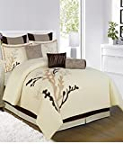 Bella Bed Cover(Fone, Coffee,Brown,228.6...
