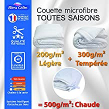 Amazon Fr Couette 4 Saisons 200x200 Bleu Calin