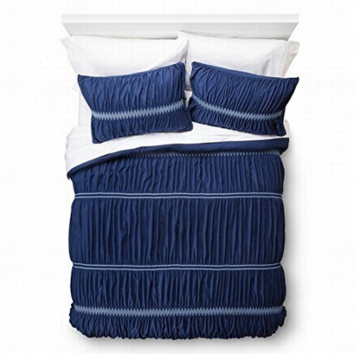 xhilaration-twin-xl-navy-blue-sheared-ruched-comforter-sham-set-by-xhilaration