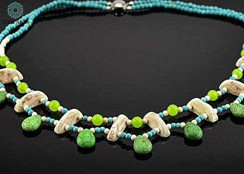 """Halskette """"Pei Tam Jei"""", Kette für Frauen (Korallenkette aus Handarbeit), exklusiver Schmuck mit Perlen für Frauen mit Stil. Handgefertigte Perlenkette aus Thailand"""