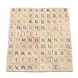 Gold Pear 100Scrabble Fliesen Holz Colorful Buchstaben Spiel Buchstabieren Alphabet Spielzeug für das Handwerk Karte