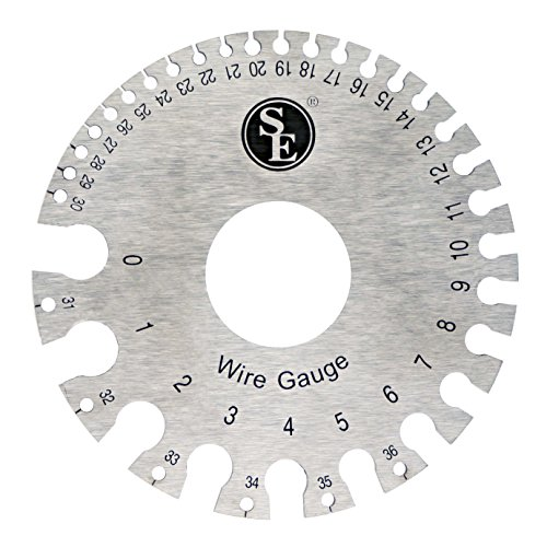SE jt47wg-c Doppelseitiger NE-Wire Gauge, 0-36American Standard (AWG) & SAE