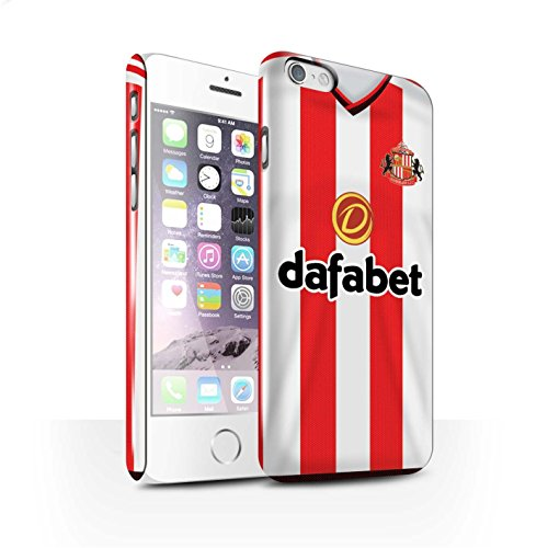 Offiziell Sunderland AFC Hülle / Glanz Snap-On Case für Apple iPhone 6 / Pack 24pcs Muster / SAFC Trikot Home 15/16 Kollektion Fußballer