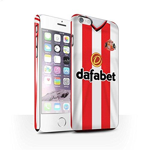 Offiziell Sunderland AFC Hülle / Glanz Snap-On Case für Apple iPhone 6S / Kirchhoff Muster / SAFC Trikot Home 15/16 Kollektion Fußballer