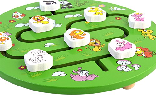 PIGLOO Animal Maze Labyrinth Wooden Toy for Kids Ages 3+ Years