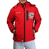 Geographical Norway REVLON Herren Softshell Powerdry Jacke, Rot Red, Groesse/Size M