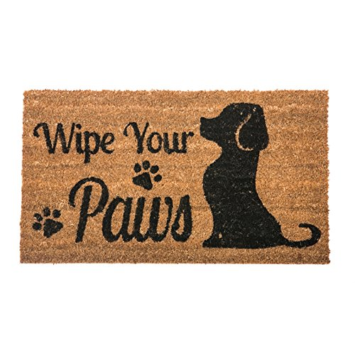 Felpudos Perros Wipe your Paws Dog Welcome Fibra de coco Felpudo