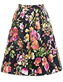 Vintage Blumen Rock Party Dress Knielang 50er Jahre Stil M CL6294-11
