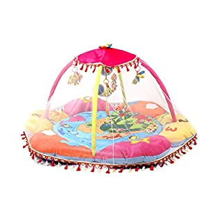 "Ann Sang Cute Large Mosquito Net for Baby Play Centra Playmat Use (55*55"") white"
