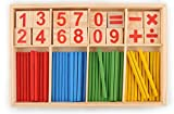 #9: CraftDev Wooden Counting Math Game Mathematics Toys Kids Preschool Education Intelligence Stick For Children