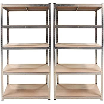 2x regal lagerregal kellerregal steckregal werkstattregal schwerlastregal 875kg baumarkt. Black Bedroom Furniture Sets. Home Design Ideas