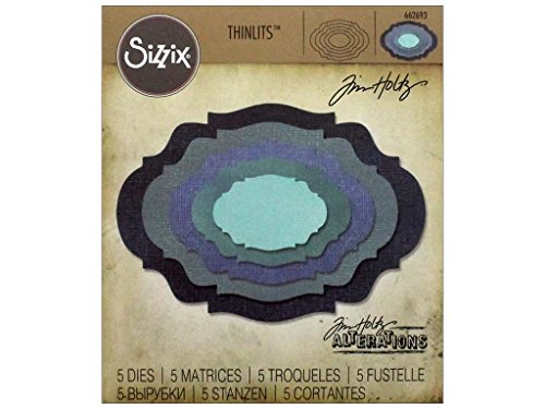 Sizzix Thinlits Stanzschablonen-Rosetten-Set von Tim Holtz, Stahl, Mehrfarbig, 19.1 x 14.4 x 0.4 cm