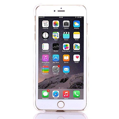 """MOONCASE iPhone 6 Plus Case Hard Shell Cover Housse Coque Etui Case pour iPhone 6 Plus (5.5"""") Violet Blanc"""