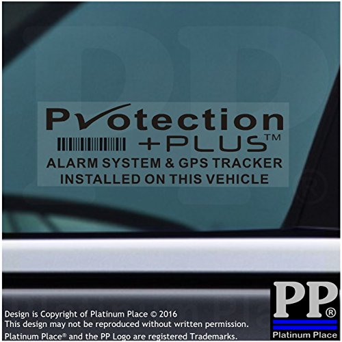 5x schwarz Schutz plus-alarm und GPS-Tracking Gerät Sicherheit Fenster Aufkleber 87x 30mm-car, Van ACHTUNG Tracker signs-platinum Ort, Copyright-Design Markenzeichen (Alarmanlage Mit Gps-tracking)