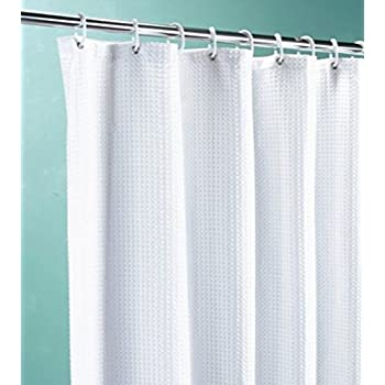 High Quality Fabric Shower Curtain Size 200cm X Extra Long And Wide