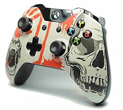 Blood and Skulls Xbox One Custom Wireless Microsoft Controller - Control Blast UK