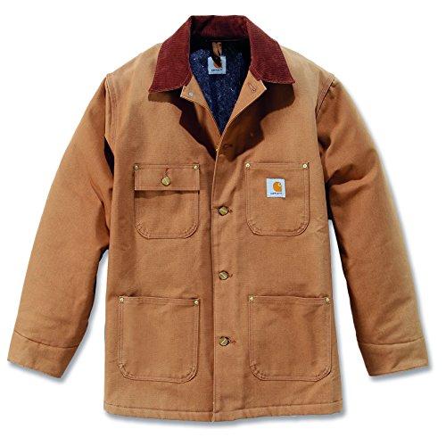 Carhartt C001 Duck Chore Coat - Wasserabweisende Arbeitsjacke, Carhartt Brown, L Carhartt Sandstone Active Jacket
