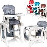 2IN1 Hochstuhl / Tisch & Stuhl SET (umbaubar) Baby Kind (6 Monate bis 6 Jahre) (Türkis)