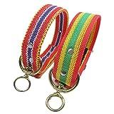 Fully 2X Hundehalsband Halsband Halskette Kragen Collar mit D-Ring Verstellbar 51x3.5cm Welpen Labrador Huskie Katze