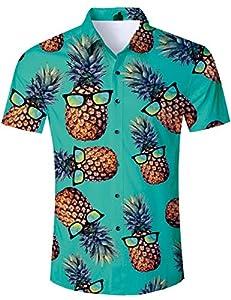 TUONROAD Camisas Manga Corta Hombre