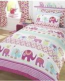'Nellie' Elephant Single Duvet Cover and Pillowcase Set