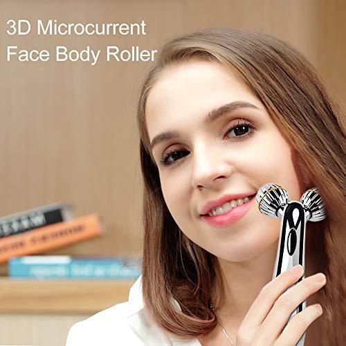 SUNMAY 3D Gesicht Roller Massage Gesichtslifting Massager - Gesichtsroller mit Mikrostrom für Gesichtsmassage, Hautstraffung, Doppelkinn Entfernen - Massagegerät Massageroller für Gesicht, Körper - 2
