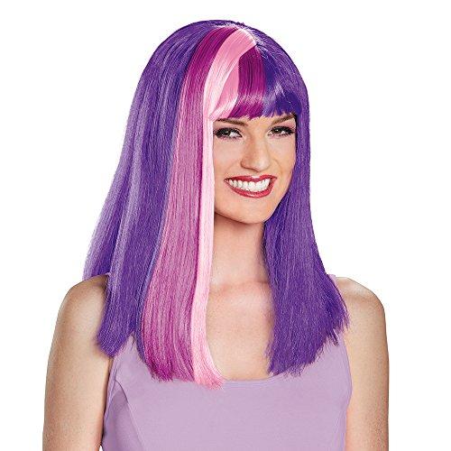 Twilight Sparkle Perücke - Disguise Women's Twilight Sparkle Adult Wig,