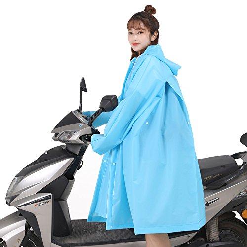 Raincoat Xia Jungen und Mädchen Mode Regenmantel Erhöhen Dicke Anti-Drift Poncho Elektroauto Motorrad Fahrrad Wasserdicht Anzug Umhang (Farbe : Blauer Himmel, Größe : L)
