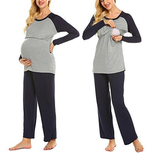 Schwangerschafts Pyjama aus Baumwolle in verschiedenen Farben