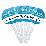 Set von 6Cupcake Picks Topper Dekoration Hello My Name Is de-dy Douglas Hello My Name Is